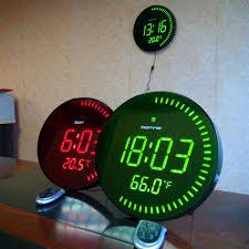 whole large led digital oversized circling wall clock shelf clocks modern design home decor big silent 3d watch with temperature alarm decorative wall