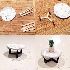 dollhouse furniture diy. marble coffee table for a dollhouse furniture diy