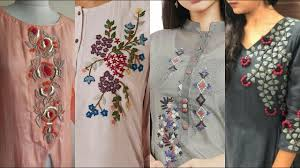Latest Embroidery Designs Top 25 Latest Hand Embroidery Neck Line Designs