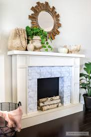 build a diy faux fireplace with adhesive tiles plans by jen woodhouse