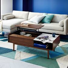 Green Coffee Tables Living Room Wood Coffee Table With Hidden Storage In Espresso