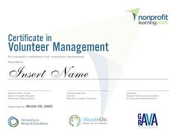 Volunteer Certificate Certificate In Volunteer Resources Management Greater Richmond