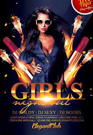 Free Party Flyer Templates Download The Girls Night Out Free Party Flyer Template