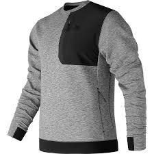 new balance jacket mens. new balance - 247 luxe crew shirt men\u0027s athletic grey jacket mens 8