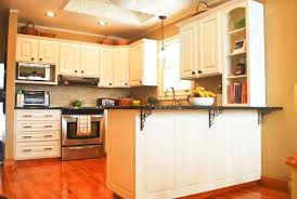 fresh distressed kitchen cabinets home depot