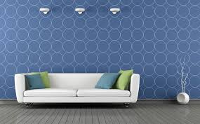 Pale blue wall interior decoration Image