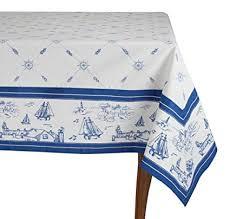 Rectangle Tablecloth Chart Amazon Com Mahogany Sailor Rectangle Tablecloth White