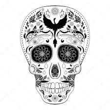 череп тату диа де Muertos тату череп день мертвых полная