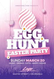 Easter Party Flyer Templates Psd