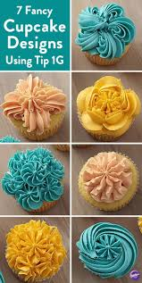 8 Ways To Decorate Cupcakes Using Tip 1g Cupcakes Galore Cupcake