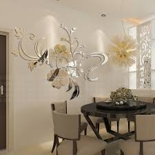 10 mirror wall stickers decor dining room flower