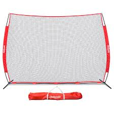 portable 12 ft x 9 ft sports barrier net with carry bag