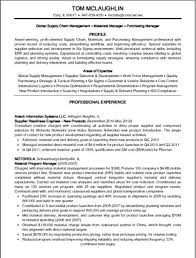 Supply Chain Manager Resume Example 3293 Manager Resume