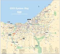 cleveland transport map • mapsofnet