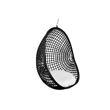 hanging pod chair black check