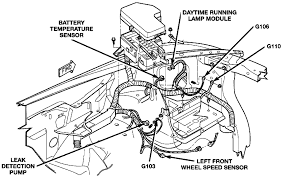 2000 engine partment harness location left front
