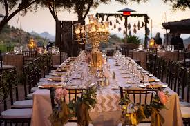 wedding reception table settings. Wedding Reception Table Setting In Gold And Blush Pink At Desert Mountain Country Club Scottsdale AZ Settings