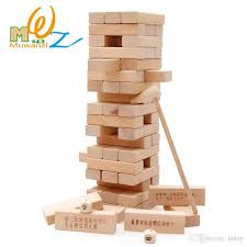 ju of wooden ball child ju wood is folded joy puzzle is folded tall layer is folded smoke building block children s toy