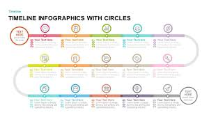 Power Point Time Line Template Timeline Infographics With Circles Powerpoint Template