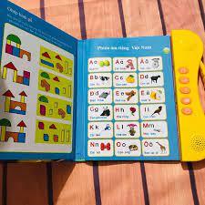 Sách học tiếng Anh song ngữ kèm hình ảnh và âm thanh cho trẻ từ 3 tuổi -  Sách vải Thương hiệu OEM