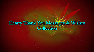 70 hearty thank you messages