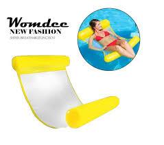 womdee swimming pool beach floating water hammock lounge chair water hammock pool lounger float hammock inflatable