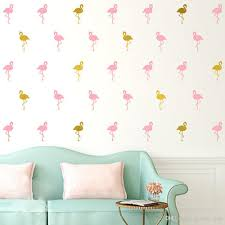 pink flamingo wall stickers white little swan wall decals removable child room decoration diy art wall  on rose gold wall art stickers with pink flamingo wall stickers white little swan wall decals removable