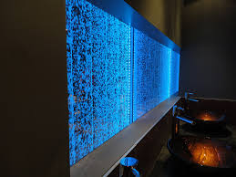 0626 classic bubble walls 4 feet tall by 20 feet long custom dmx led controlled lighting installed in washroom area just providing the right amount of