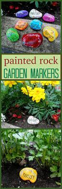 garden art projects. Painted Rock Garden Markers By @amandaformaro - CraftsbyAmanda.com Art Projects
