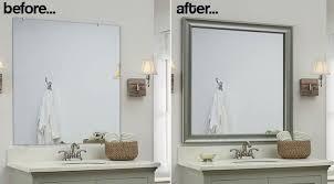 framed bathroom mirrors diy. Charming Add A Wood Frame Around Plain Mirror DIY For Bathroom Framed Mirrors Diy O