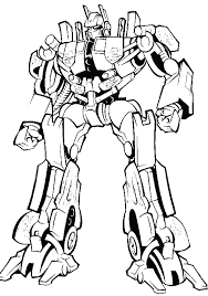 Small Picture Transformers Ready Will Eradicate Crime Coloring Page