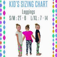 Lularoe Kids Size Chart Kids Leggings Great Prices Prints Nwt