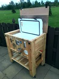 how to make a wood ice chest awesome patio cooler stand or yeti wooden plans wooden ice chest homemade