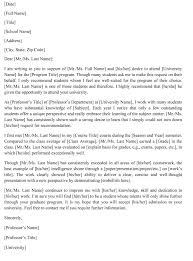 Student Character Reference Letter Reference Letter Template For University