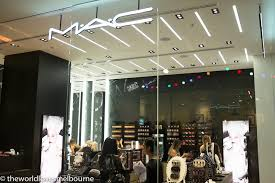 mac cosmetics in melbourne central is a unique stand alone where you can e for all your cosmetics needs as well as book in for a session with a