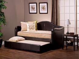 daybed with trundle. Image Of: Leather Daybed With Trundle Design Ideas