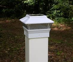 white fence post. 1 Of 3FREE Shipping 4 White Solar Fence Post Cap Lights - For 4x4 PVC / VINYL Posts PL244W