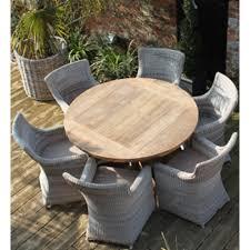 york round reclaimed teak garden dining set
