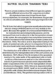 pentingnya silikat bagi tanaman tebu diabstraksikan smno jursntnh  37 nutrisi