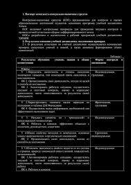 Паспорт комплекта контрольно оценочных средств pdf КОСы разработаны в соответствии с рабочей программой учебной дисциплины ХИМИЯ 2 Результаты освоения учебной