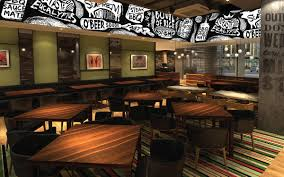 Outback Steakhouse Interior Design Wall Illustration Outback Steakhouse On Behance