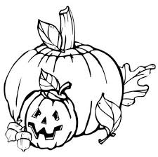 Small Picture Fall Pumpkin Coloring Pages Kindergarten Holidays Seasons