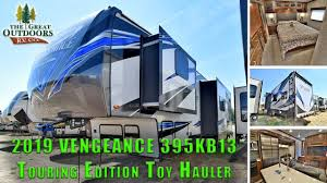 2019 forest river vengeance 395kb13 touring edition fifth wheel toy hauler colorado rv s dealer
