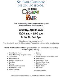 spchs news st paul catholic high school craftfairflyer2017