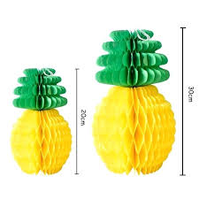 pineapple tissue paper honeycomb table luau party hanging decoration birthday favors diy