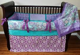 newest purple and teal nursery bedding for a great style pink and teal baby bedding