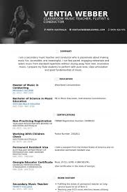 Music Teacher Resume Template Fascinating Music Teacher Resume Samples Visualcv Resume Samples Database