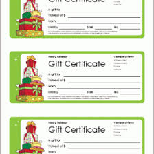 Gift Certificate Free Templates Pics Templates For