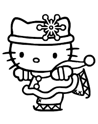 Small Picture Hello kitty winter coloring pages for kids printable free