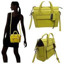 Coach Bleeker Mini Riley Carryall Yellow Leather Cross Body Bag - Tradesy